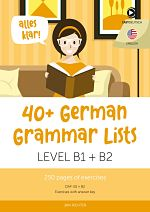 German Grammar lists