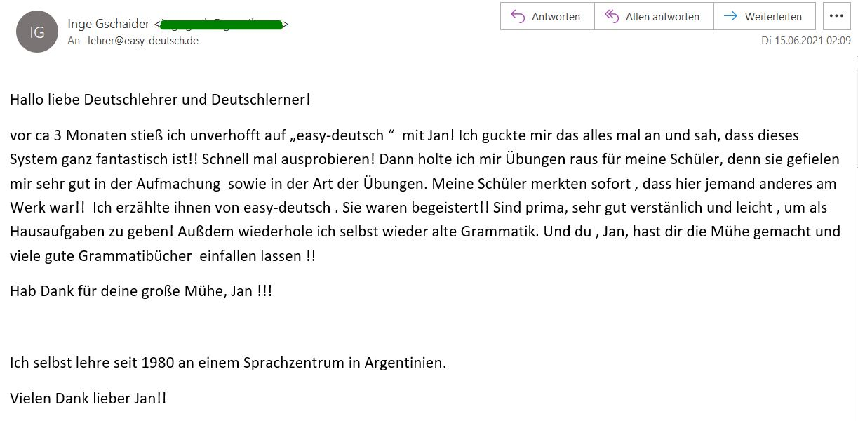 Kundenmeinung Email 1 Inge
