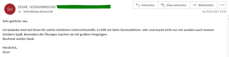 Kundenmeinung Email 4 Sirun