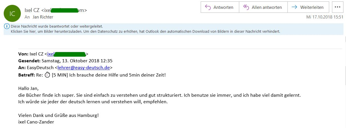 Kundenmeinung Email 6 Ixel